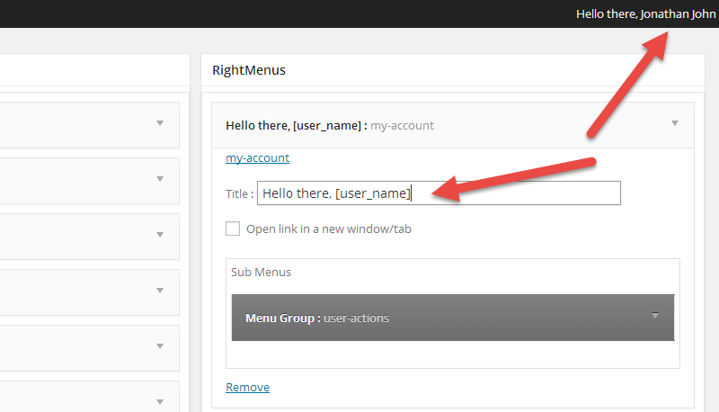 Admin-Bar-Username