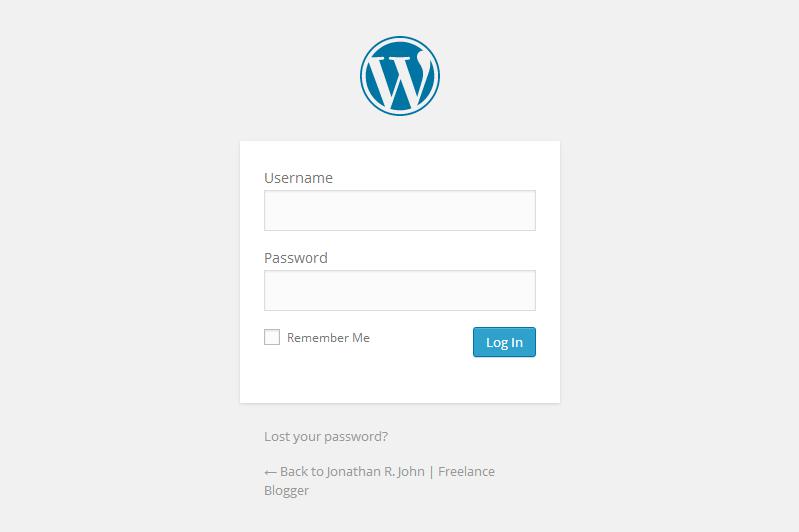 WordPress-Default-Login-Screen