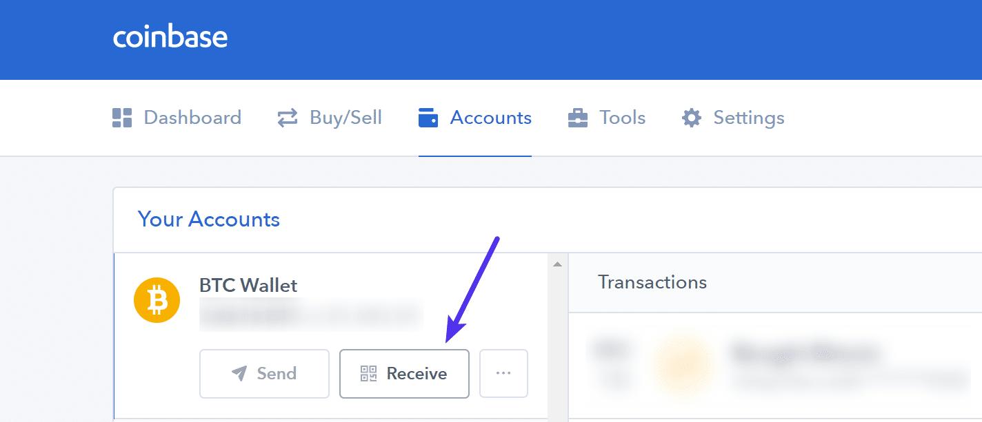 Bitcoin receive