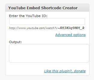 youtube white label shortcode plugin