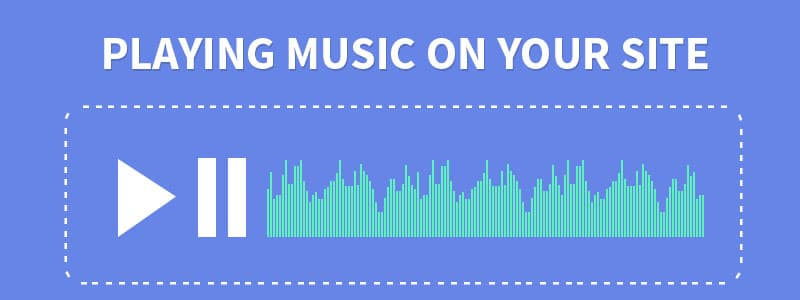 Playing music on your site