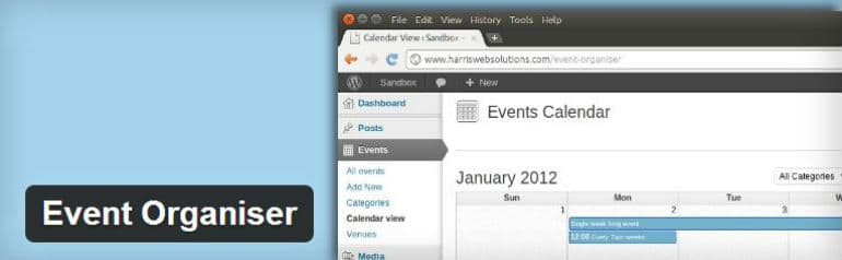 event organizer wordpress plugin
