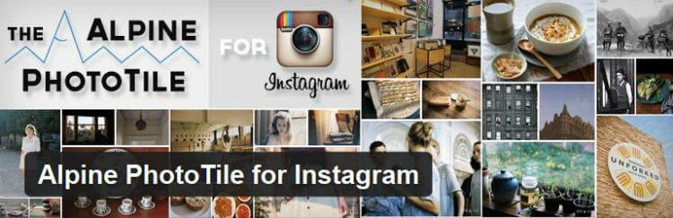 Alpine PhotoTile for Instagram plugin