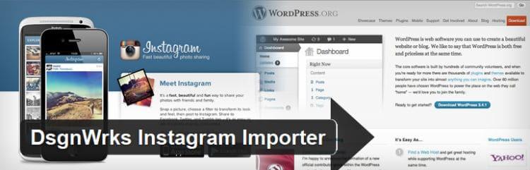 DsgnWrks Instagram Importer plugin