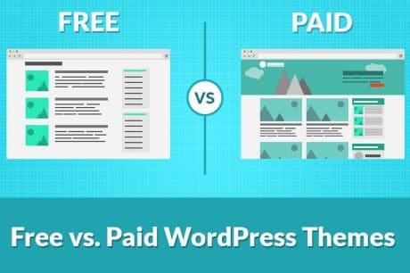 wordpress free vs paid themes