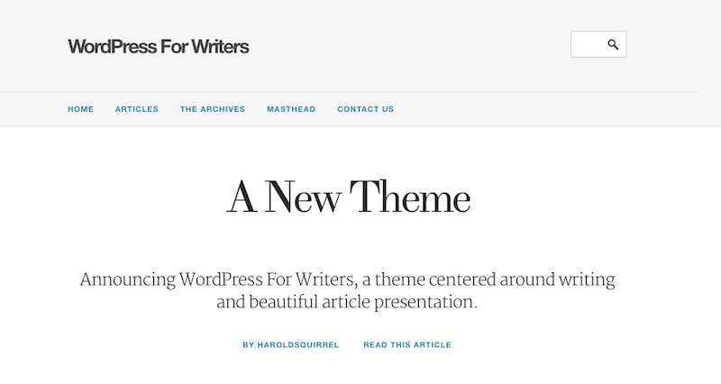 wordpress-for-writers-theme