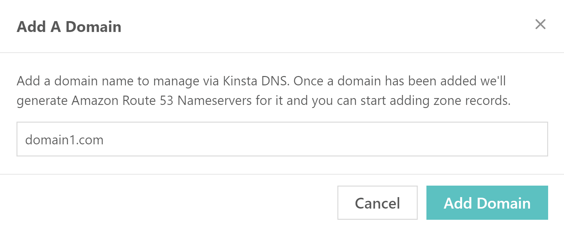 Add a domain to DNS