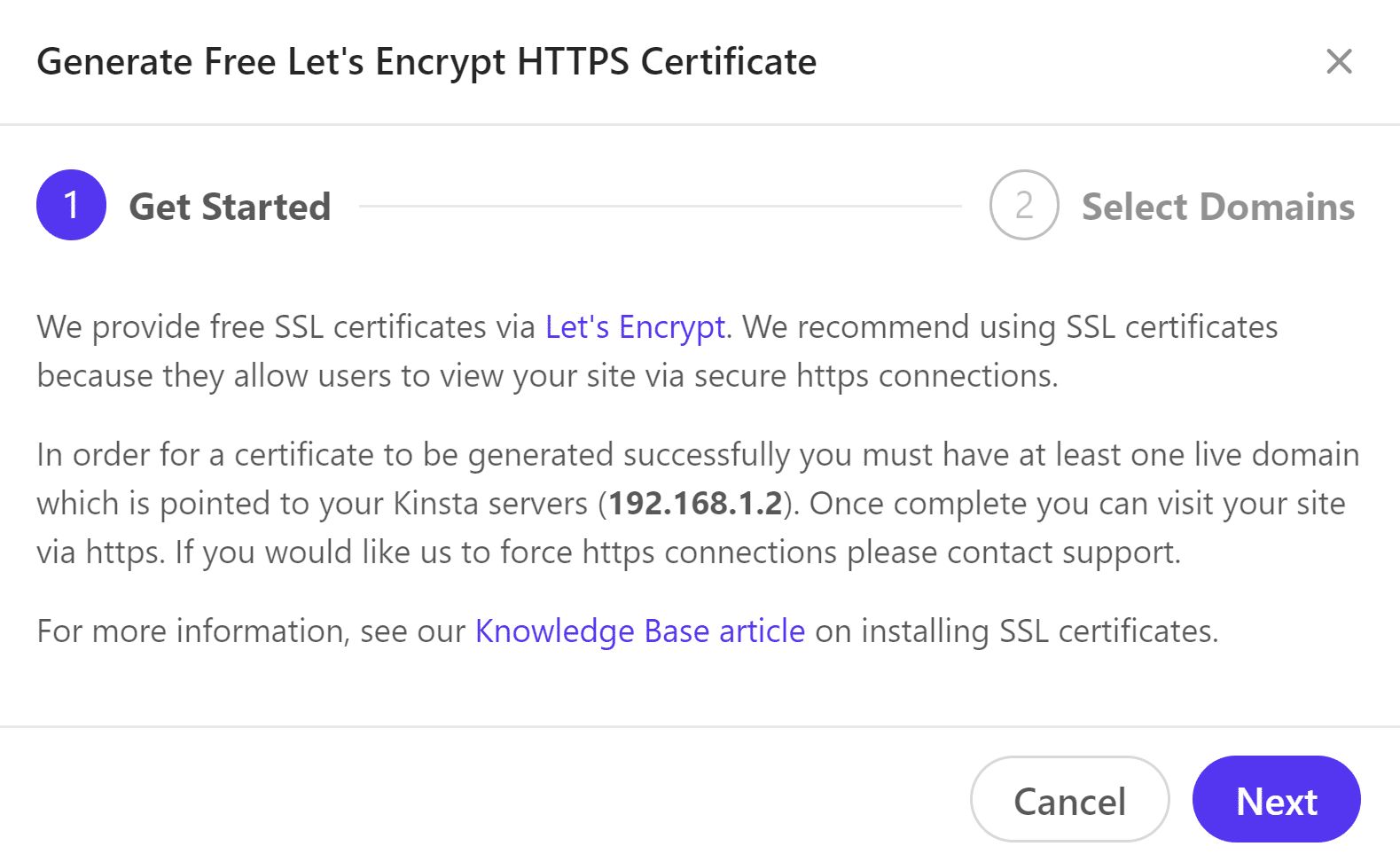 Generate Let's Encrypt HTTPS credentials
