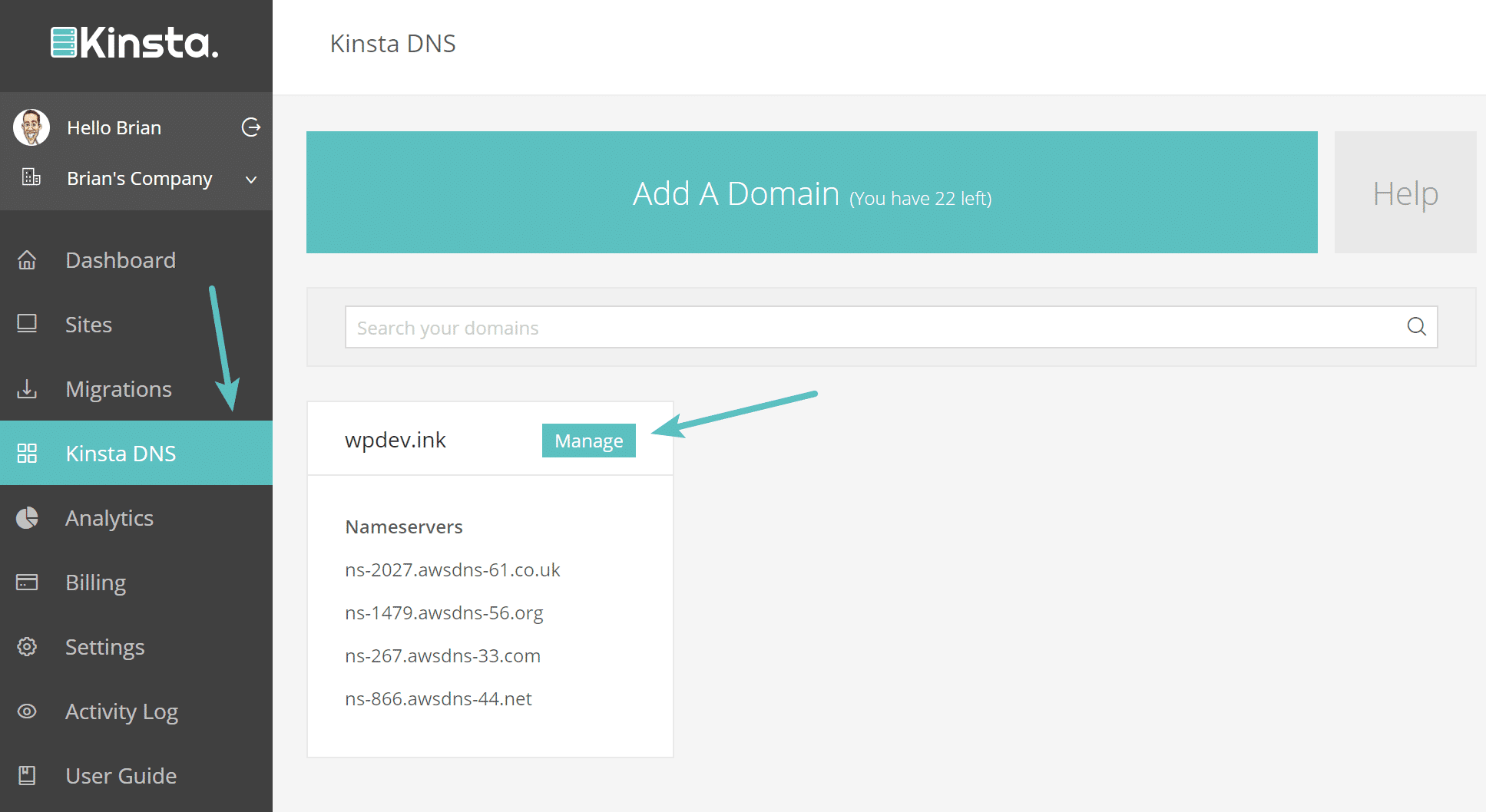 Manage DNS records