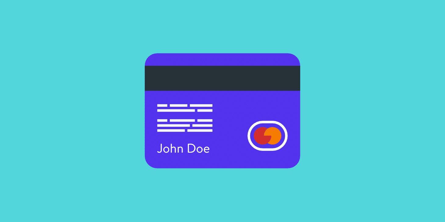 Update credit/debit card