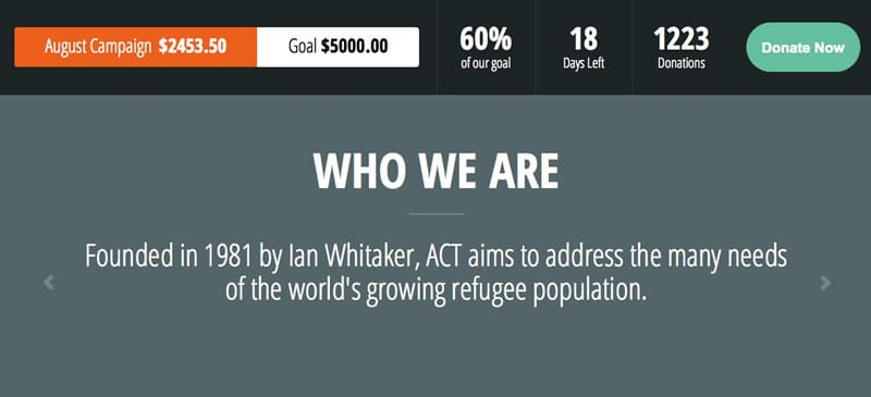 Act charity theme for wordpress