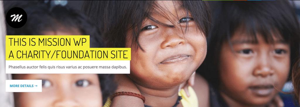 Mission WordPress charity theme