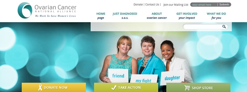 Ovarian Cancer Alliance website