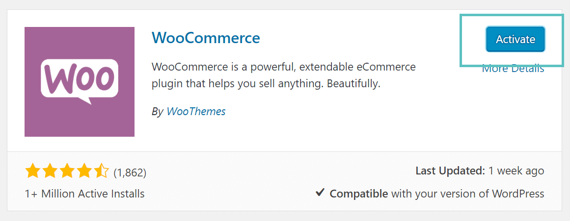 woocommerce activation
