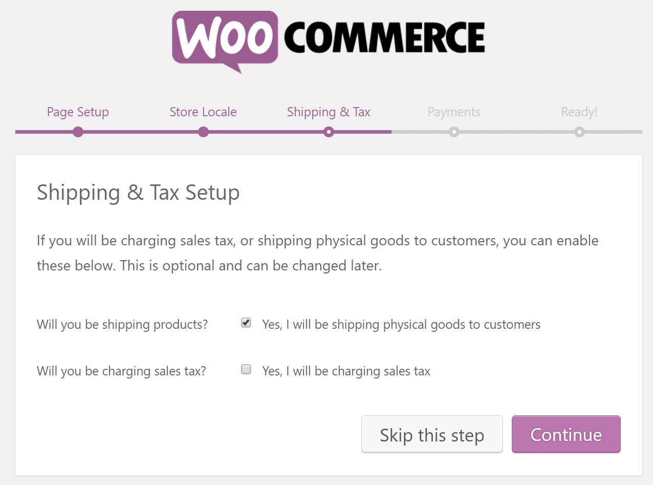 woocommerce shipping tax setup