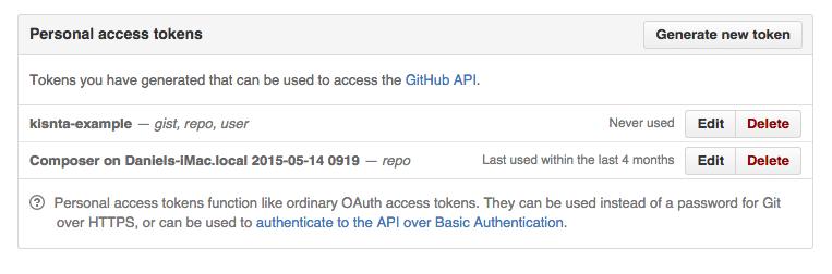 Github Access Tokens
