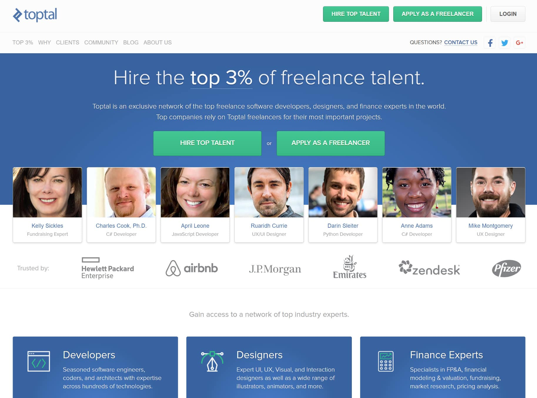 Find WordPress developers for hire at Toptal