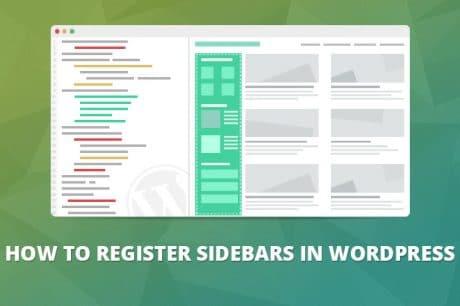 wordpress register sidebar
