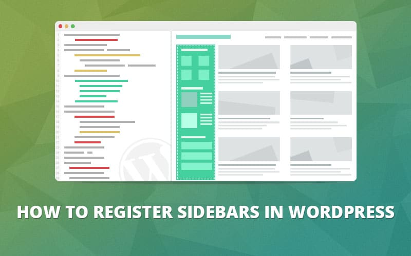 wordpress register sidebar
