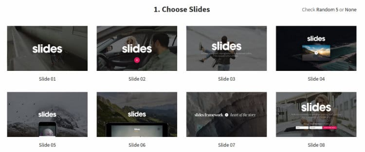 Choose Slides