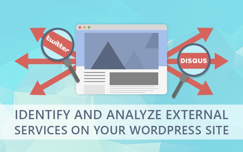 identify external services on your website