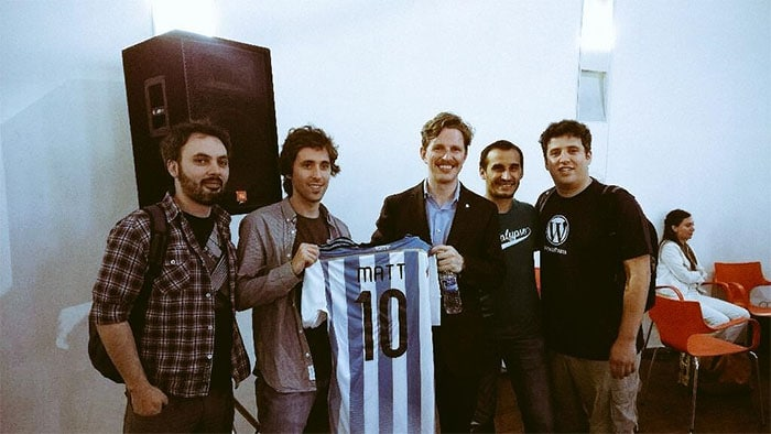 WPArgentina's team with Matt Mullenweg