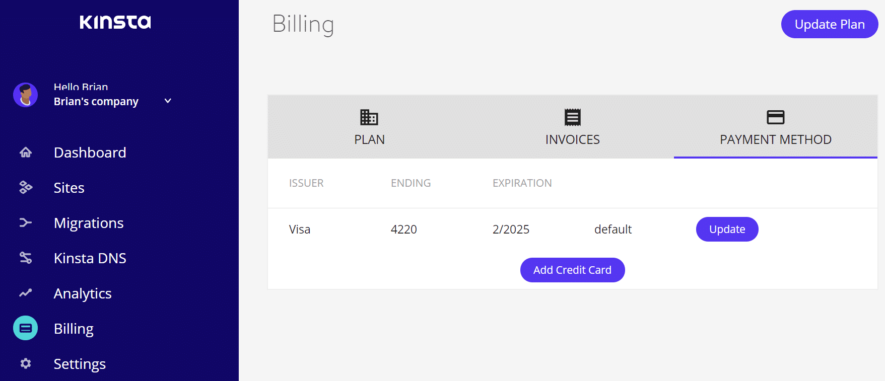 Billing credit cards