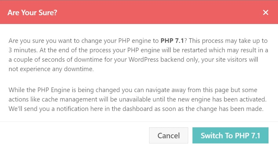 switch to php 7.1