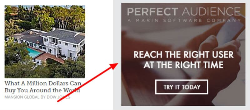 Example of Remarketing ads