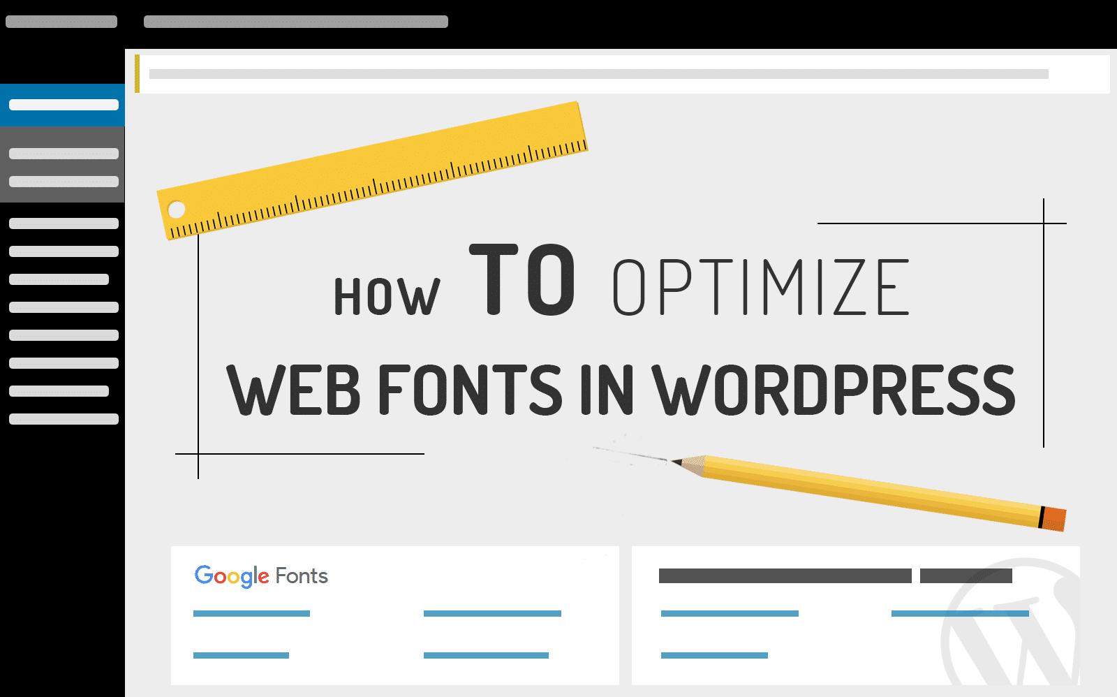 web font optimization
