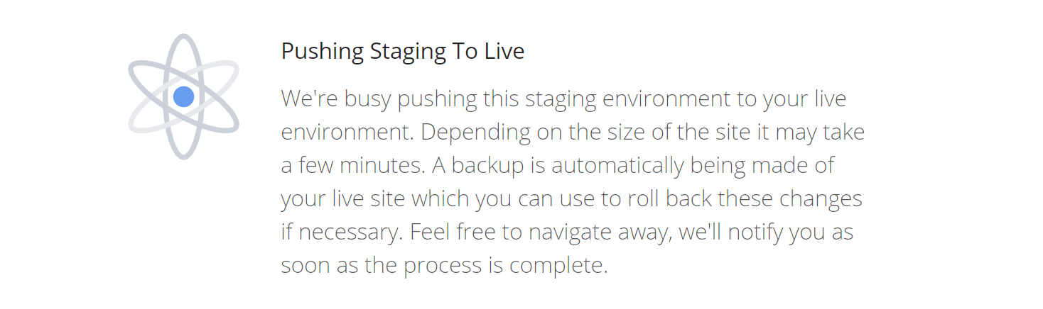 Push staging to live