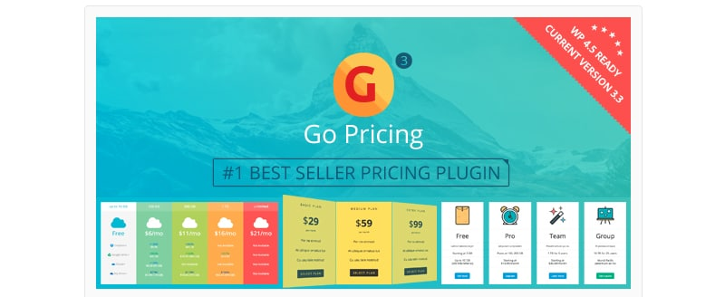 Go Pricing - pricing table wordpress