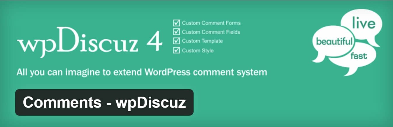 wpdiscuz wordpress plugin