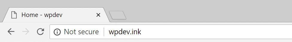 Mention non sécurisé sur Chrome 68