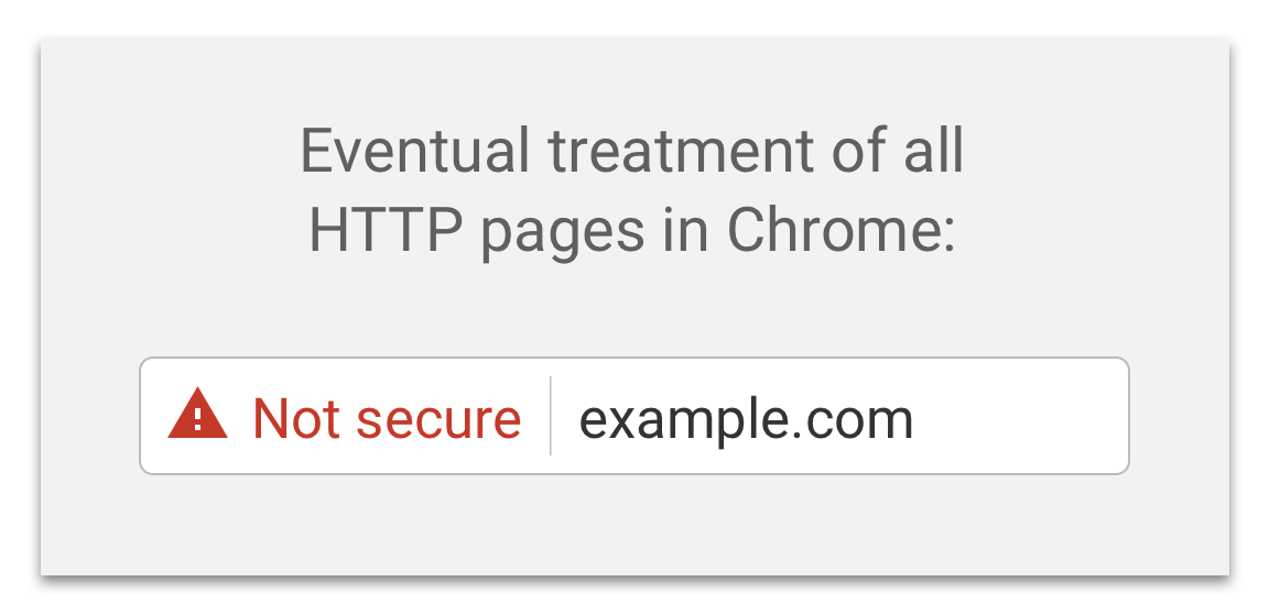 Chrome not secure red warning