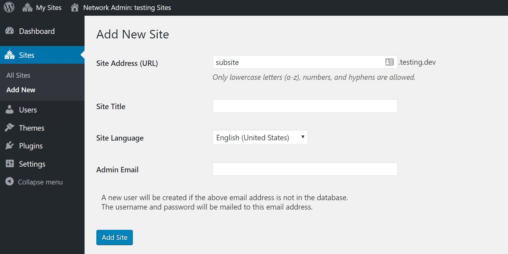 create multisite install