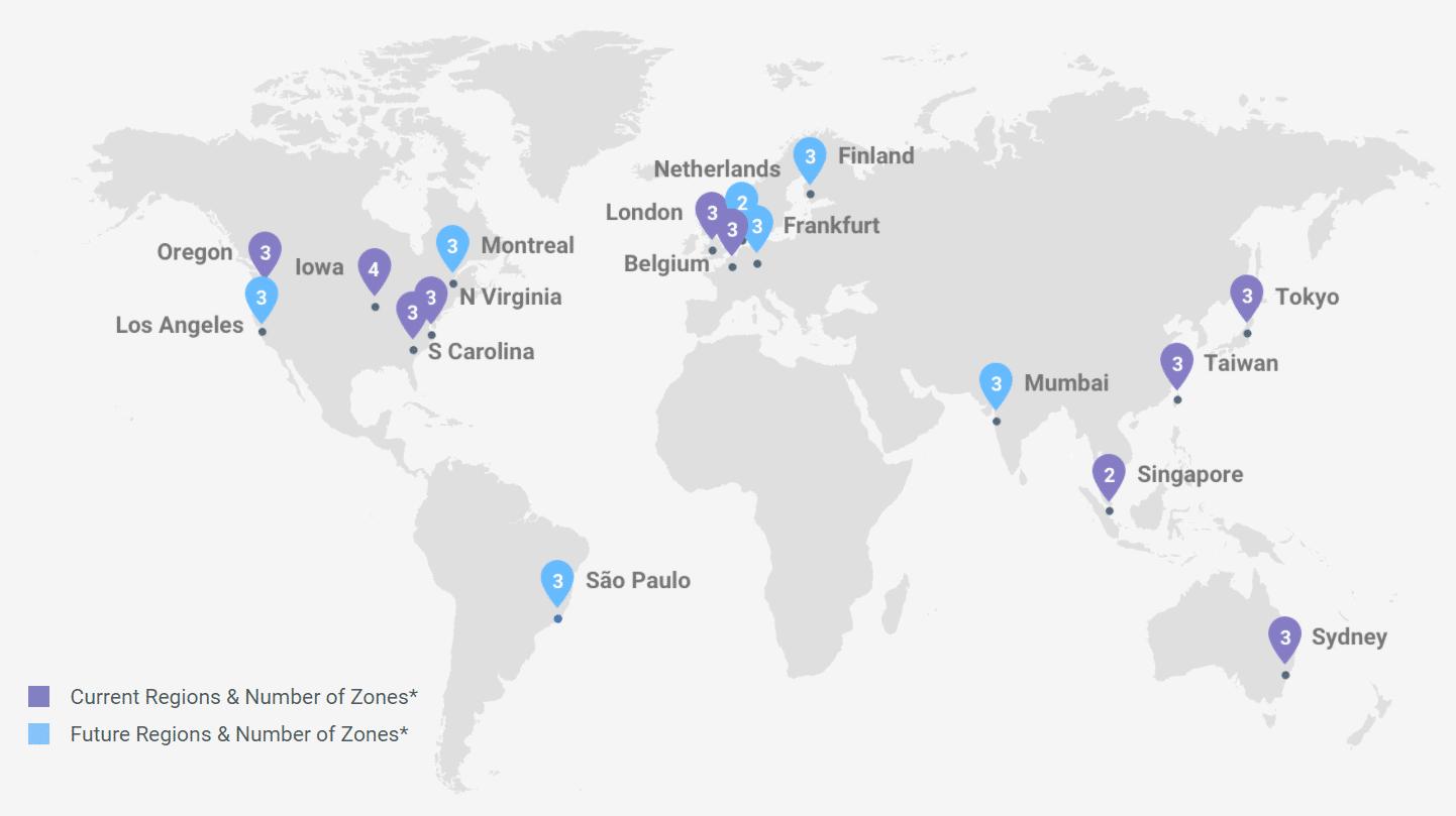 Google Cloud Platform network expansion
