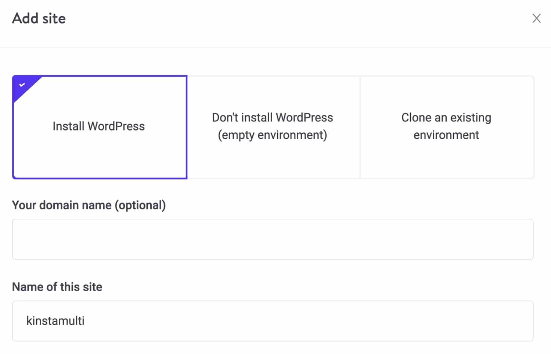 Créez une nouvelle installation WordPress.