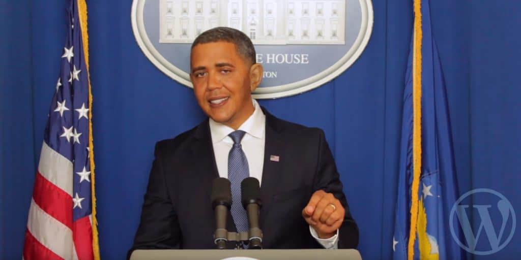 president obama endorses wordpress