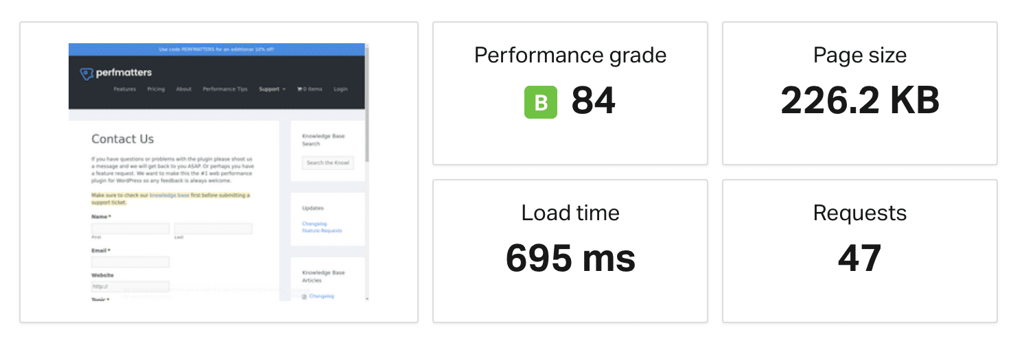 Website speed test with multiple redirects