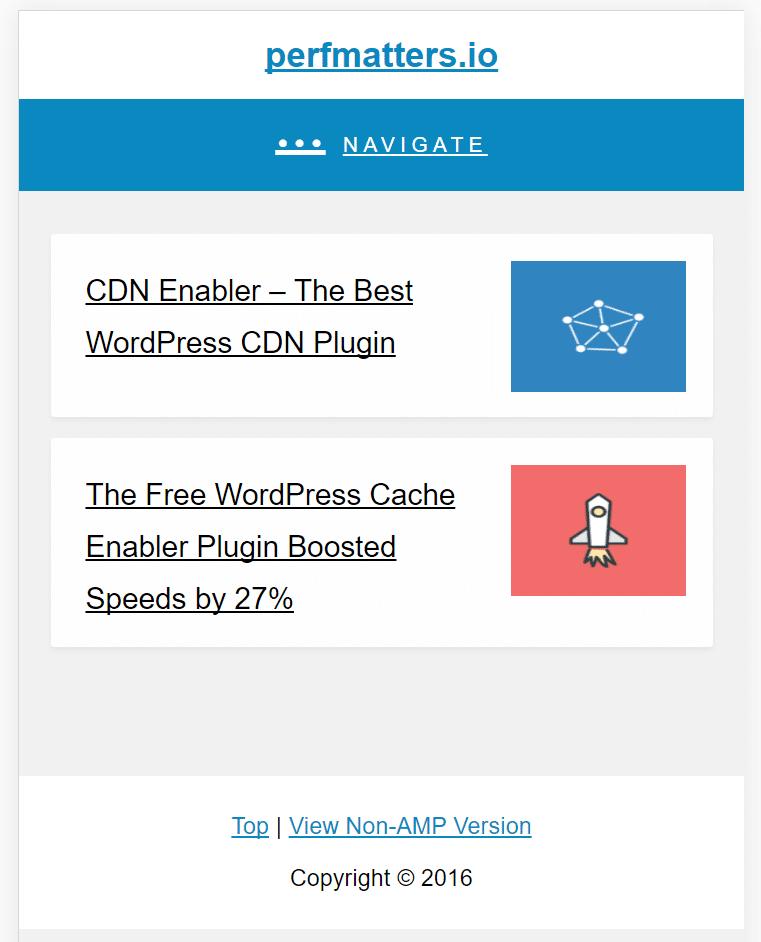amp for wp blog index