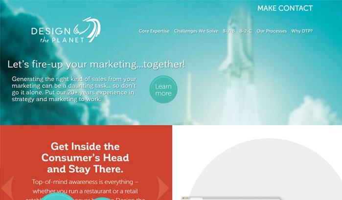 design-the-planet-wordpress-sites 130+ WordPress Site Examples of Big Brands in 2018
