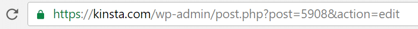 post id address bar