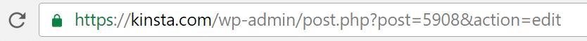 post id address bar