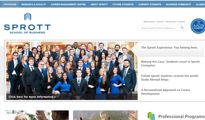sprott school of business wordpress sites
