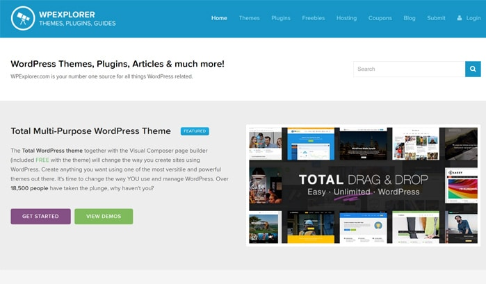 wpexplorer wordpress sites