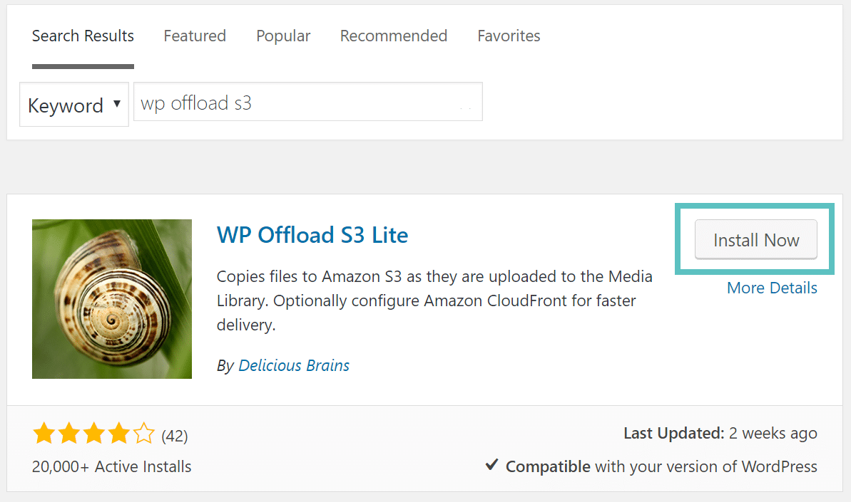 install wp offload s3 lite