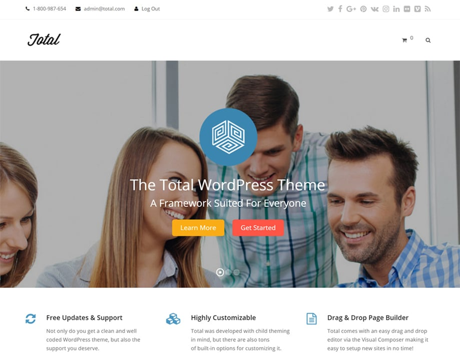 total wordpress theme base lite