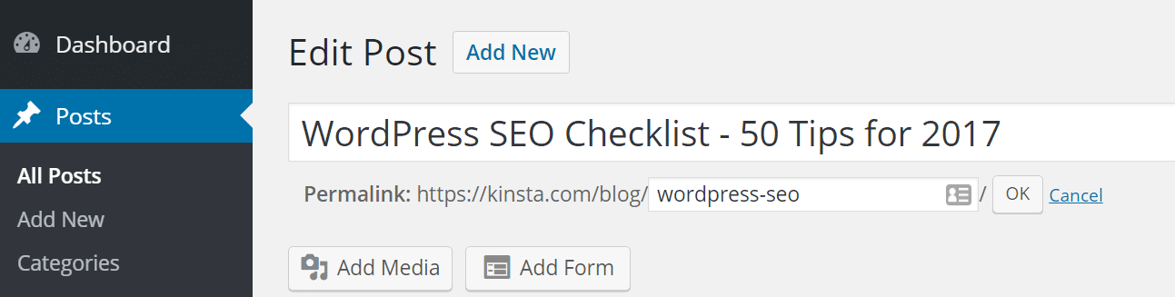 wordpress seo short url