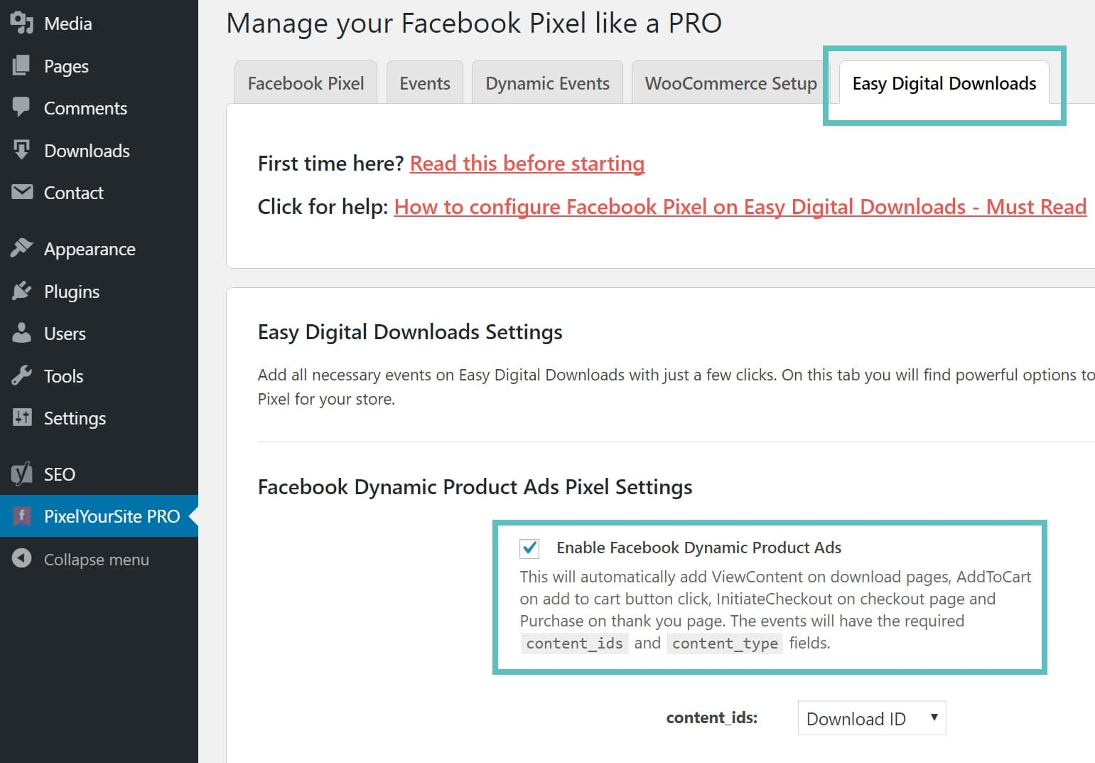 easy digitial downloads conversion pixel